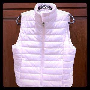 Loft white puffer vest